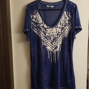 Maurices Blue VCut Top